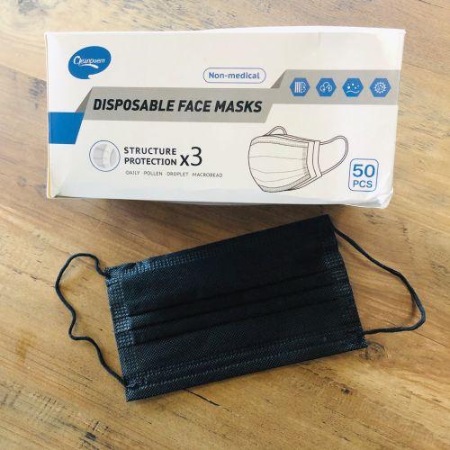 Masque jetable - Noir (civil)